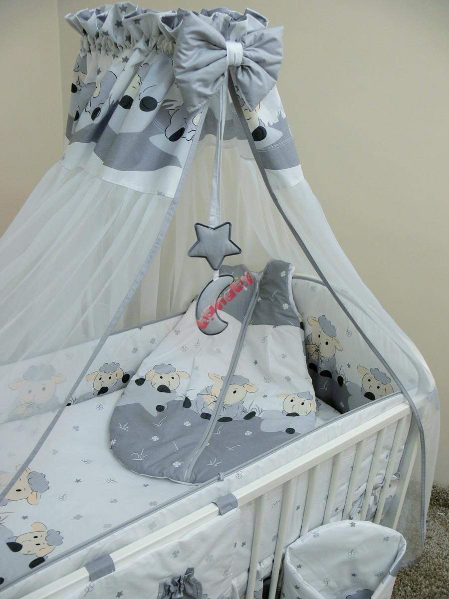 Baby Bettwäsche Set 120x90cm Lämmchen Grau Banabyde