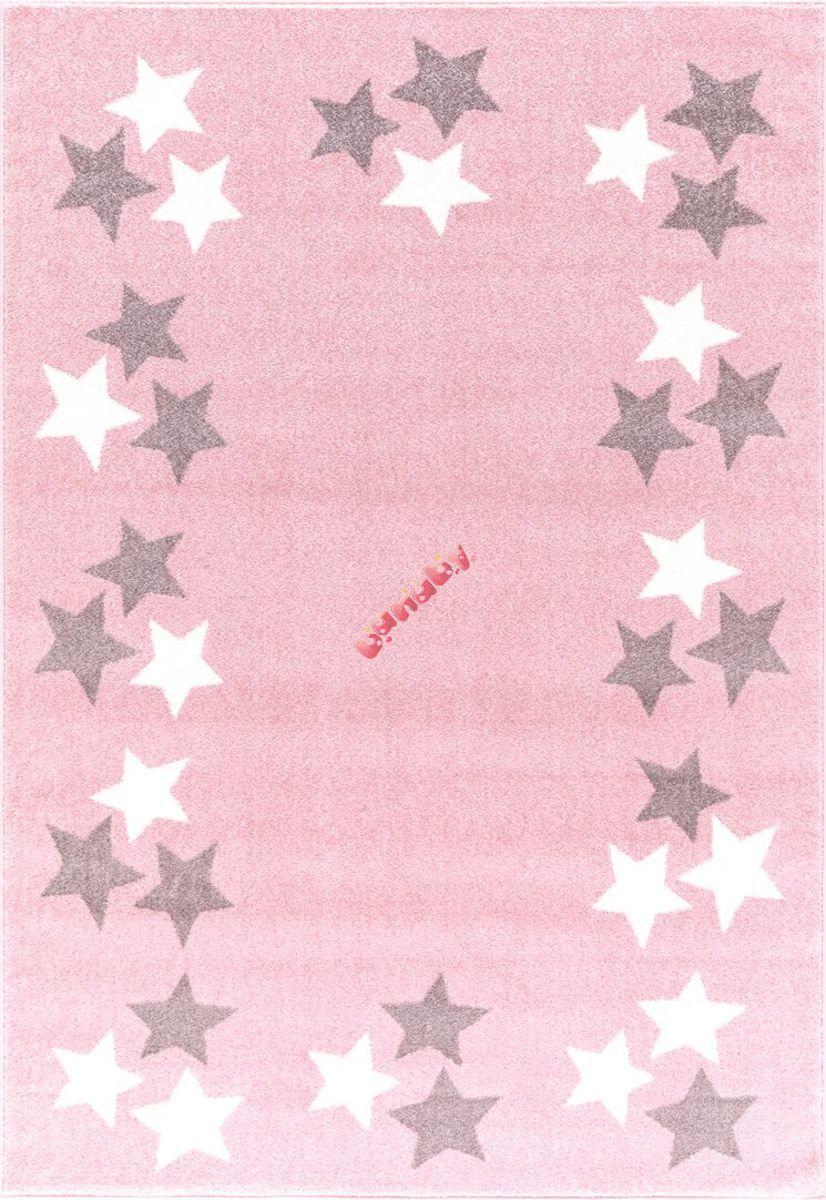 kinder teppich borderstar rosa grau. Black Bedroom Furniture Sets. Home Design Ideas