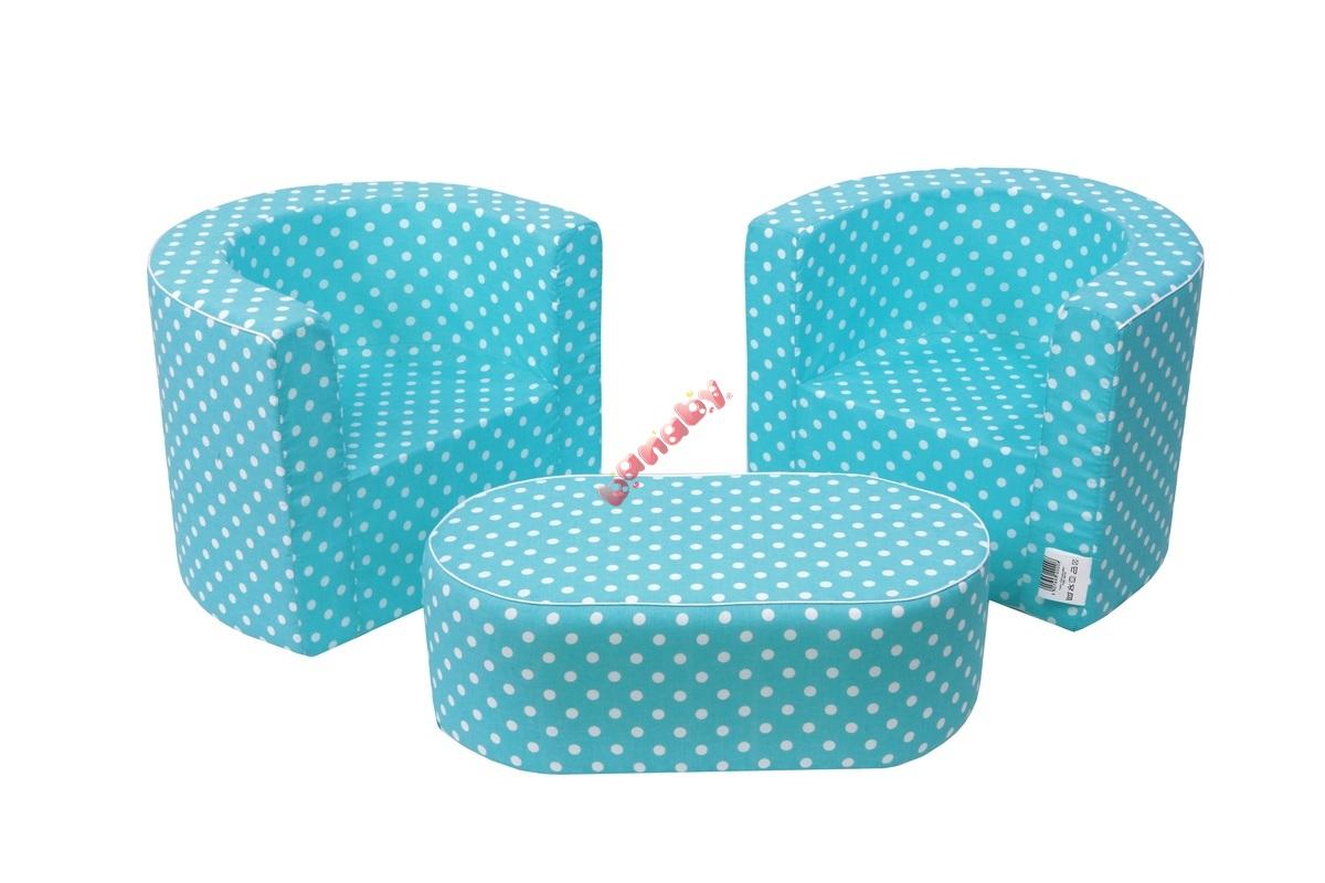 Kindermöbel Set Pünktchen Blau