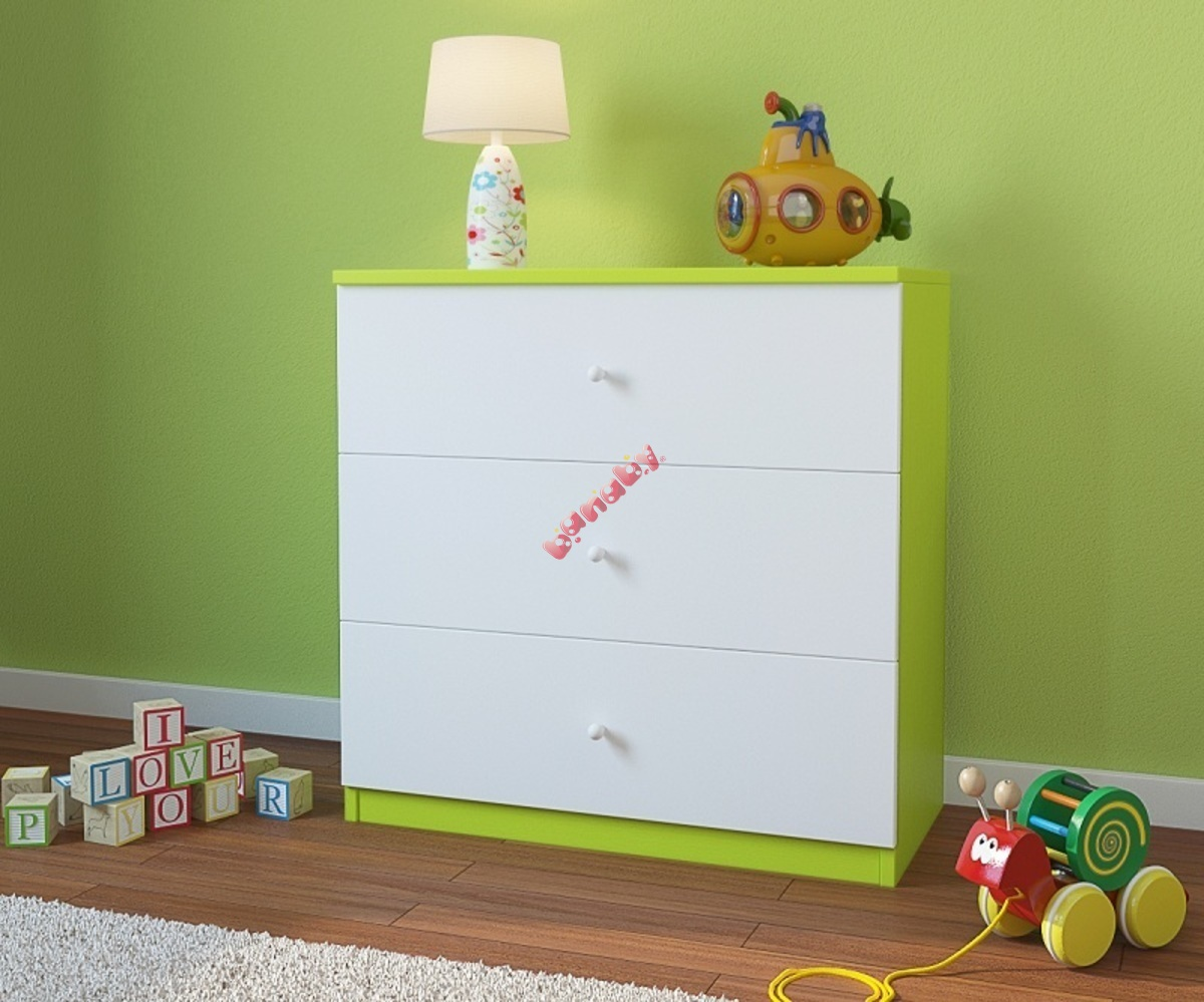 Kinderkommode Ourbaby Grun Weiss Banaby De
