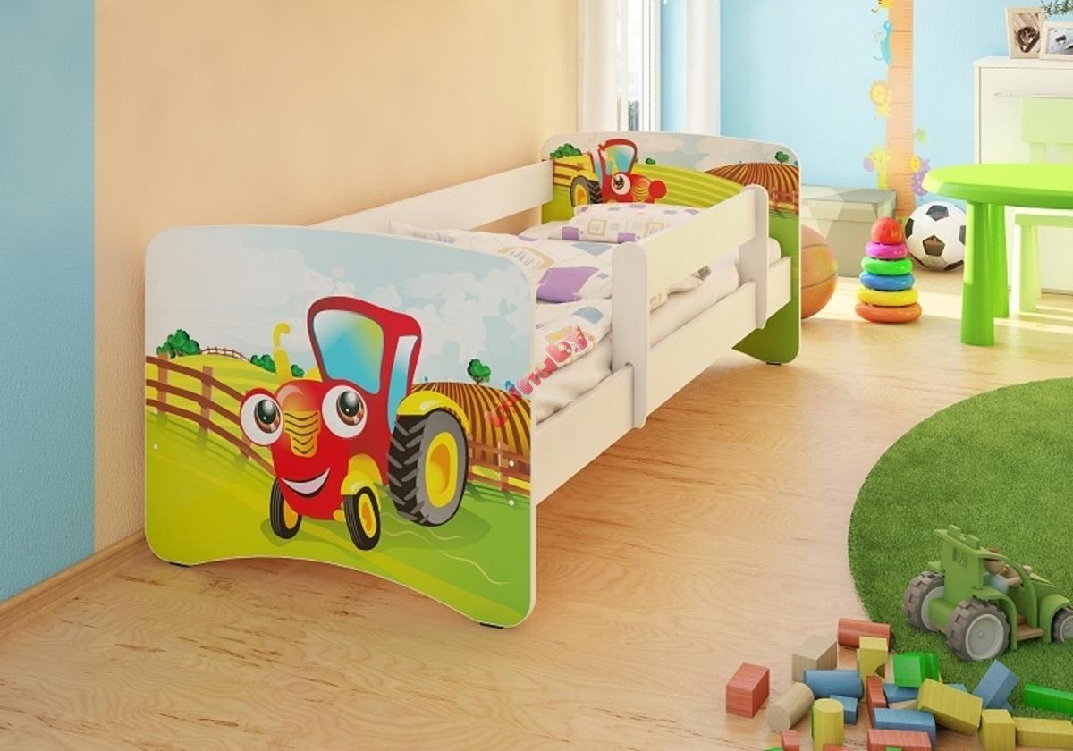Kinderbett Seitenschutz kinderbett mit seitenschutz - traktor - banaby.de