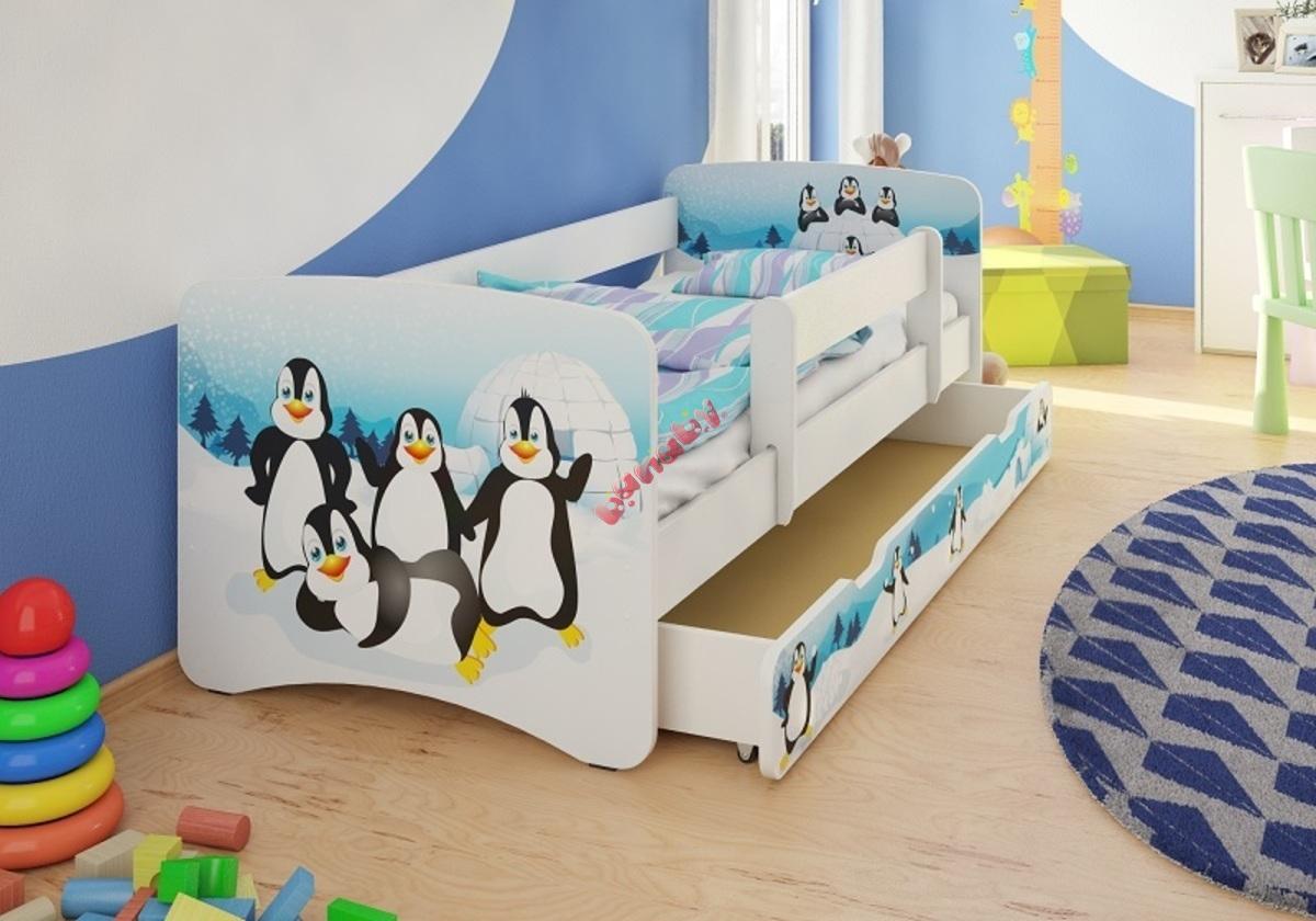 kinderbett mit seitenschutz pinguine. Black Bedroom Furniture Sets. Home Design Ideas