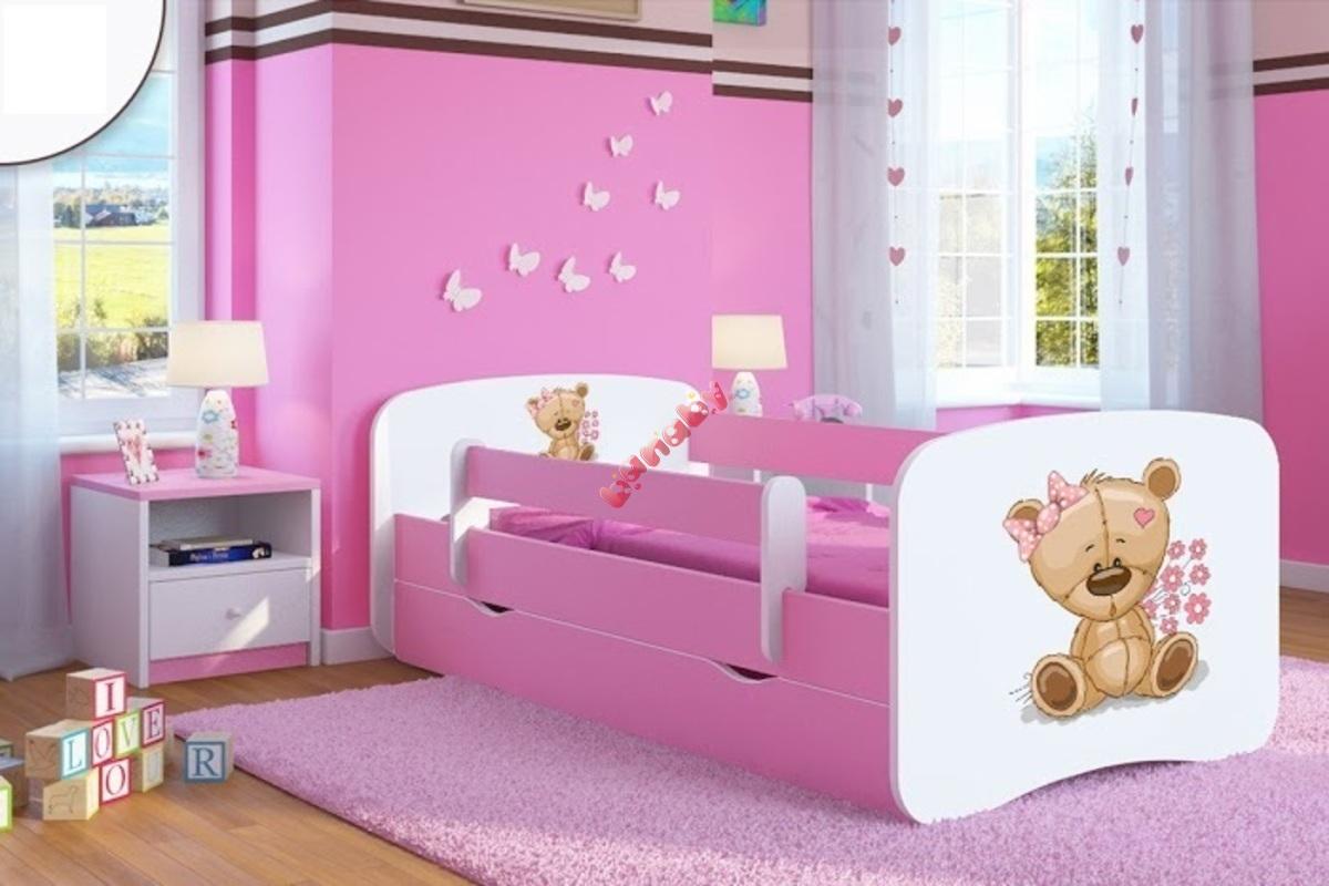 kinderbett mit rausfallschutz ourbaby b rchen pink. Black Bedroom Furniture Sets. Home Design Ideas