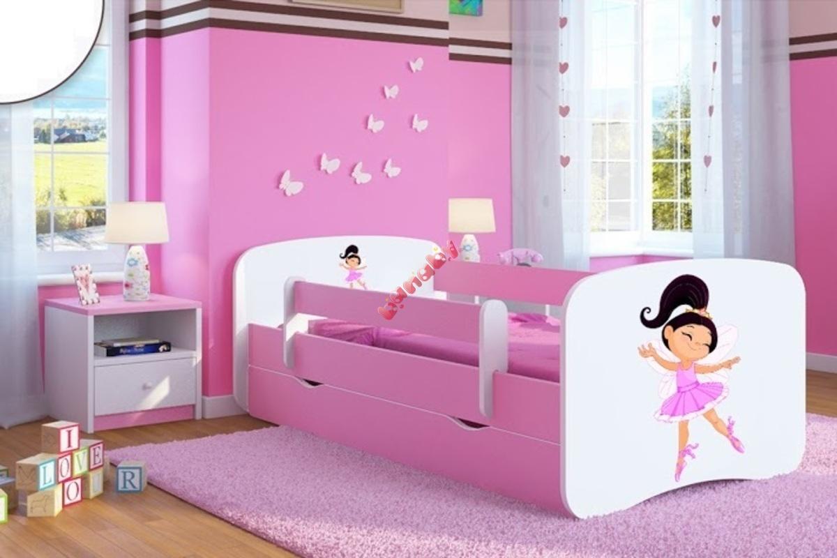 kinder bett mit barriere ourbaby t nzer pink. Black Bedroom Furniture Sets. Home Design Ideas