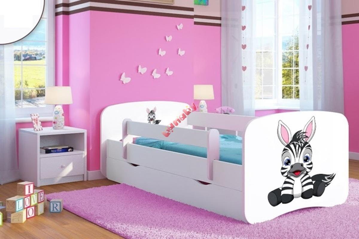 kinderbett mit seitenschutz ourbaby zebra wei. Black Bedroom Furniture Sets. Home Design Ideas
