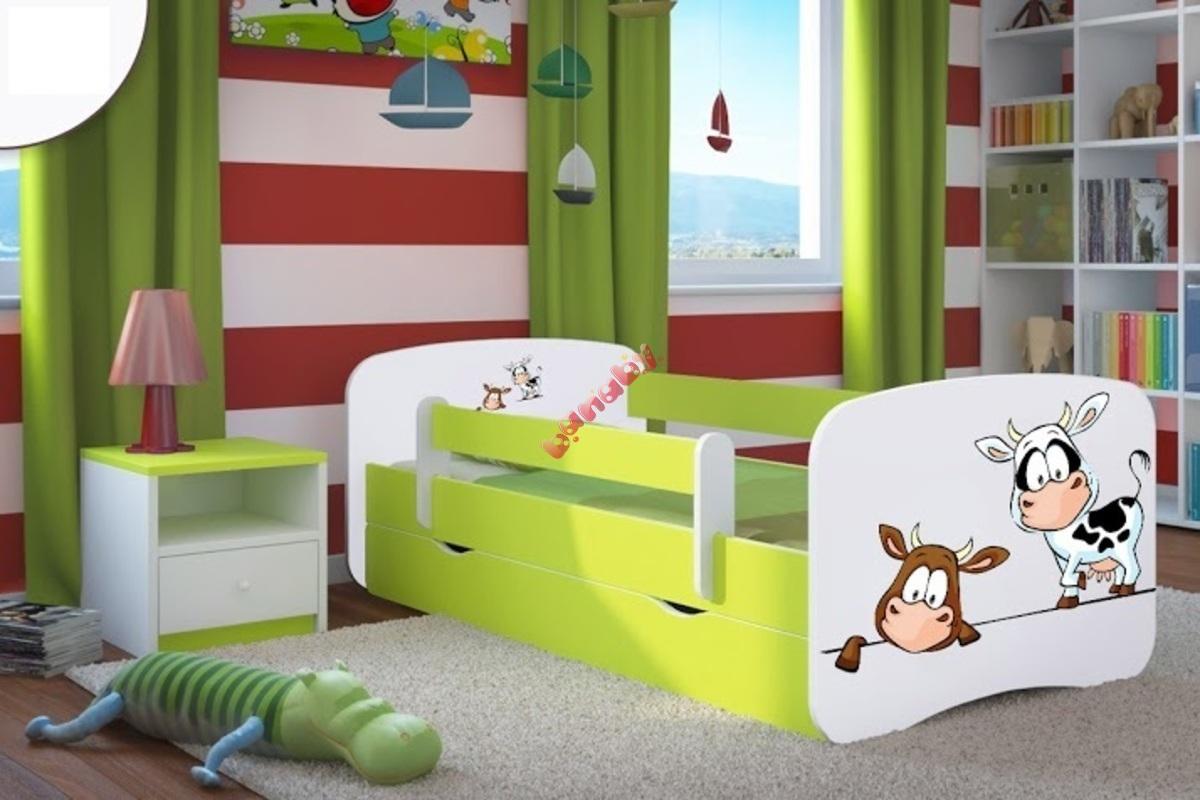 kinderbett mit seitenschutz ourbaby k he gr n. Black Bedroom Furniture Sets. Home Design Ideas