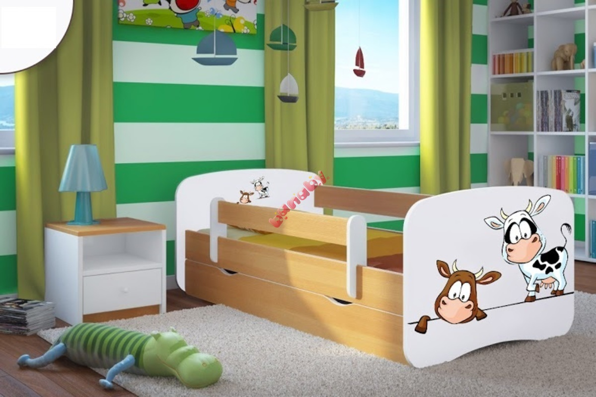 kinderbett mit seitenschutz ourbaby k he buche. Black Bedroom Furniture Sets. Home Design Ideas