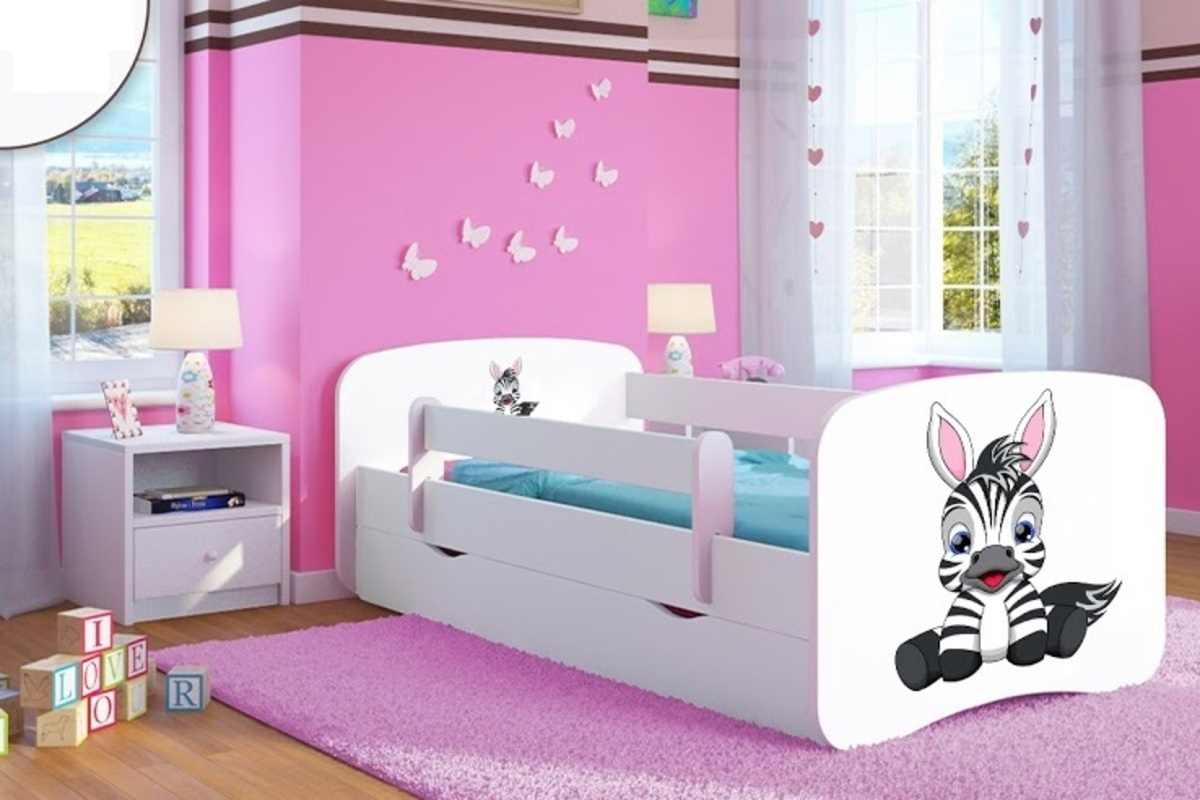 kinderbett mit seitenschutz ourbaby zebra wei. Black Bedroom Furniture Sets. Home Design Ideas
