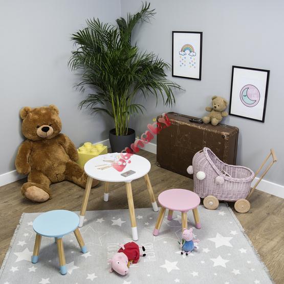 Ourbaby Kindertisch Mit Stuhlen Rund