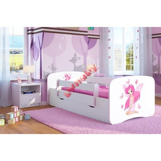 kinderbett mit barriere ourbaby fee leonka wei. Black Bedroom Furniture Sets. Home Design Ideas