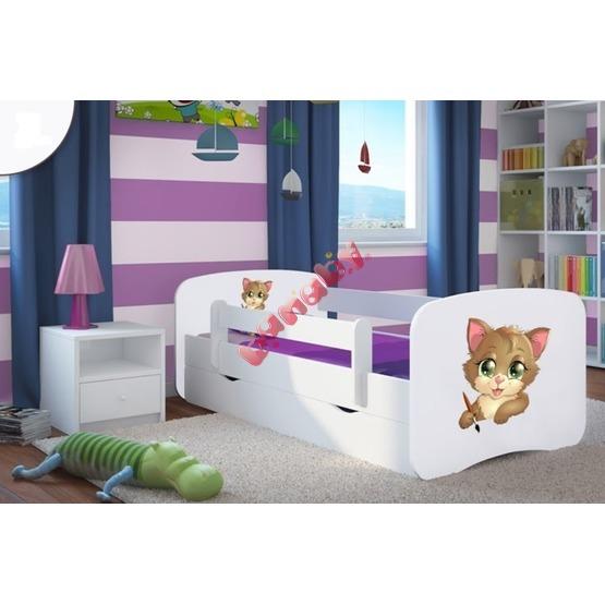 kinderbett mit seitenschutz ourbaby k tzchen wei. Black Bedroom Furniture Sets. Home Design Ideas