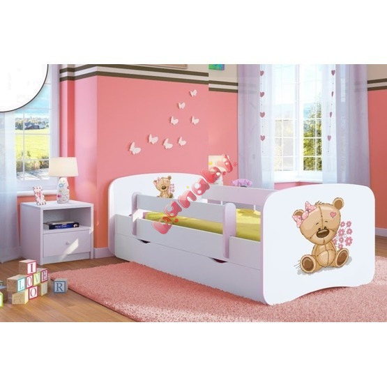 kinderbett mit seitenschutz ourbaby b rchen wei. Black Bedroom Furniture Sets. Home Design Ideas