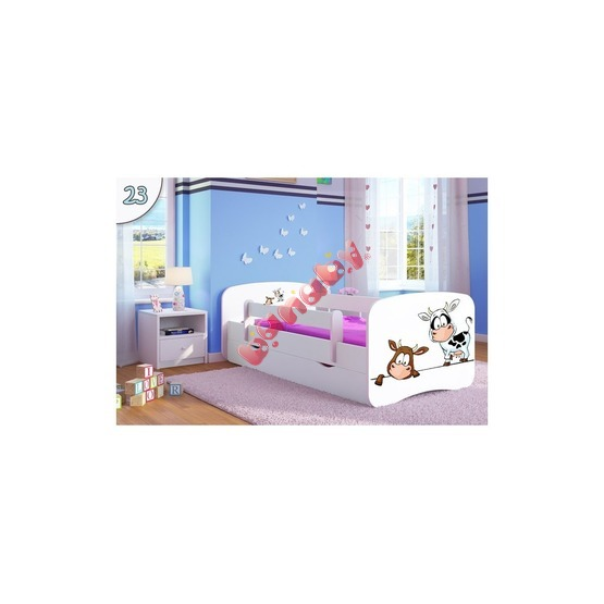 kinder bett mit gel nder ourbaby k he white. Black Bedroom Furniture Sets. Home Design Ideas