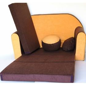 Kindersofa - braun/orange, Welox
