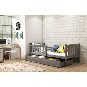Kinder Bett Exclusive grey - grau detail, BMS