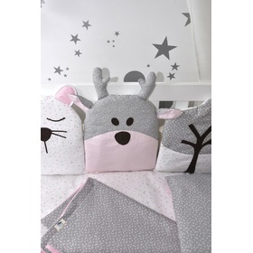 Cushion  Kinderbetten pink-grau, Studio Kit