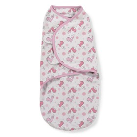 Kinder Wickeldeckchen SwaddleMe S rosa / vögel 2ks, Summer Infant