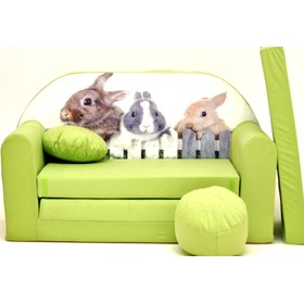 Kinder Sofa Hasen - green, Welox
