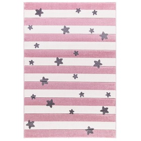 Kinder Teppich STARS STRIPES rosa