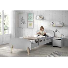 Kinderbett Kiddy - Grau, VIPACK FURNITURE