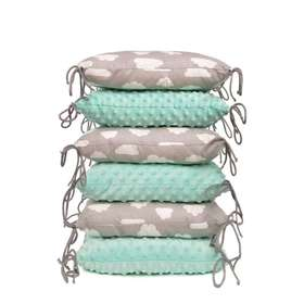 Cushion  Kinderbetten mint-grau, T-Tomi