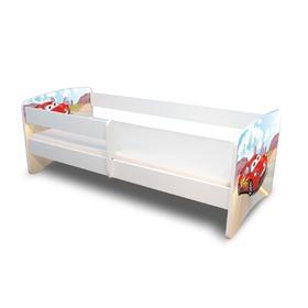 kinderbett mit gel nder racer. Black Bedroom Furniture Sets. Home Design Ideas