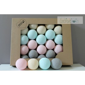 Baumwolle leuchtend LED Kügelchen Cotton Balls - pulverig, cotton love