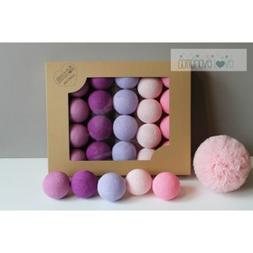 Baumwolle leuchtend LED Kügelchen Cotton Balls - Light berry, cotton love