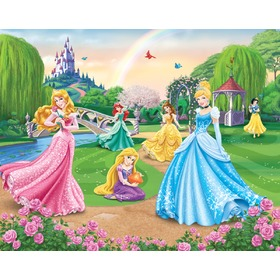 3D Tapete Disney Princess, Walltastic, Princess