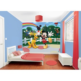 3D Tapete Mickey Maus Clubhaus, Walltastic, Mickey Mouse