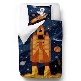 Herr. Little Fox Bedding Shuttle - Decke 100 x 130 cm Kissen: 60 x 40 cm, Mr. Little Fox
