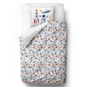Herr. Little Fox Bedding Space - Decke: 135 x 200 cm Kissen: 60 x 50 cm, Mr. Little Fox