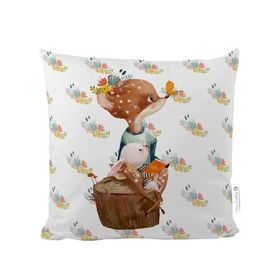 Herr. Little Fox Pillow - Forest School - Kitz und Kaninchen, Mr. Little Fox