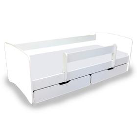 kinderbett mit gel nder nico wei. Black Bedroom Furniture Sets. Home Design Ideas