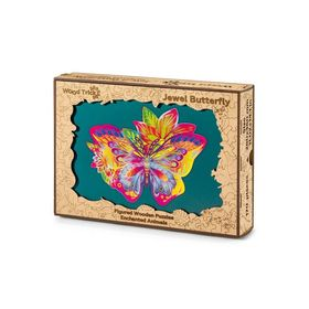 Buntes Holzpuzzle - Schmetterling, Wood Trick
