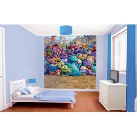 Kindertapete Die Monster Uni - 8teilig, Walltastic, Monsters University
