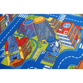 Kinder Teppich BIG CITY - blau