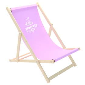 Kinder Strand Liegestuhl Little princess - Pink, CHILL