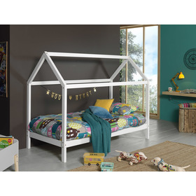 Kinderbett Hausbett Dallas Hip - weiß, VIPACK FURNITURE