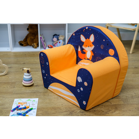 Kinder Stuhl Der Fuchs - blau-orange, Delta-trade