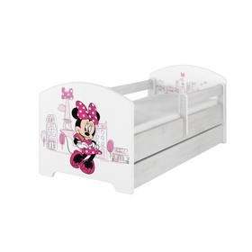 Babybett mit Barriere - Minnie Mouse in Paris - weiß, BabyBoo, Minnie Mouse